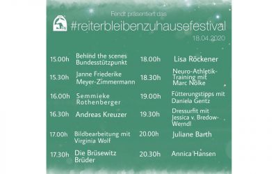 #reiterbleibenzuhausefestival der FN am 18. April 2020